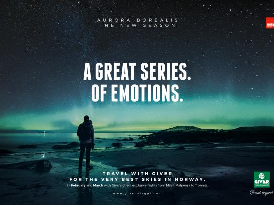 Giver Viaggi Print Ad - Aurora Emotions