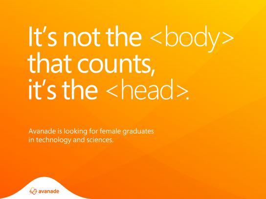 Avanade Digital Ad - Female engineers needed