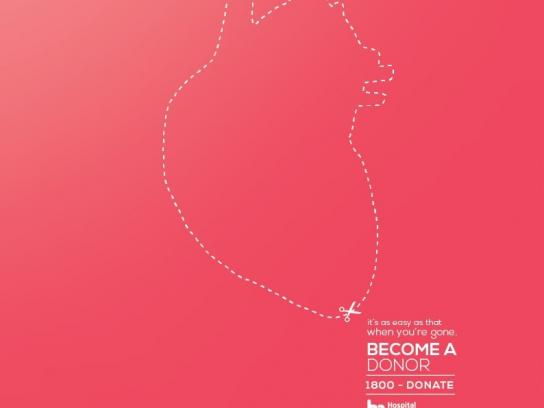 Hospital Metropolitano Print Ad -  Heart