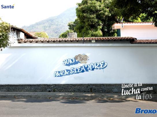 Laboratorio La Santé Print Ad -  Broxol, Graffiti