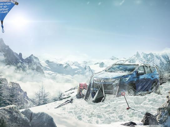 Mitsubishi Print Ad - Snow