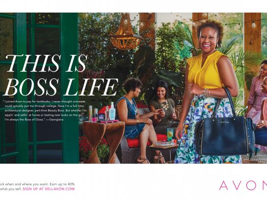 Avon Print Ad - This is boss life - Georgiana