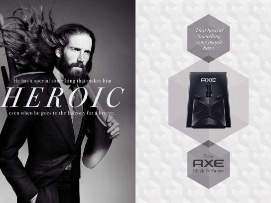 Axe Print Ad -  Heroic