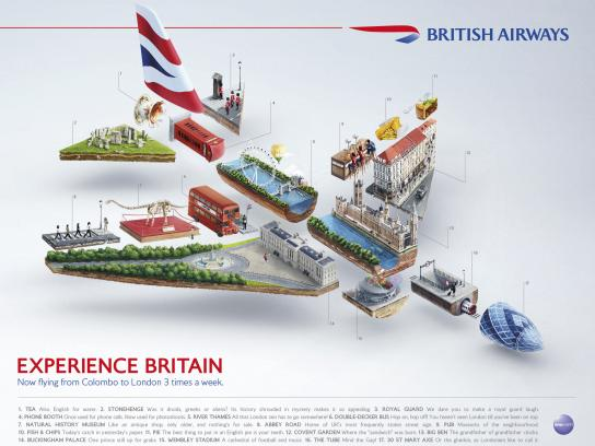 British Airways Print Ad -  Plane