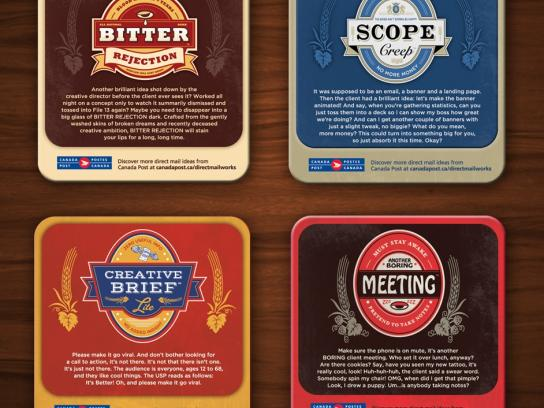 Canada Post Direct Ad -  Ad agency woes coasters