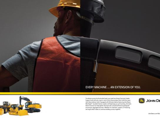 John Deere Print Ad -  Building Together, 2