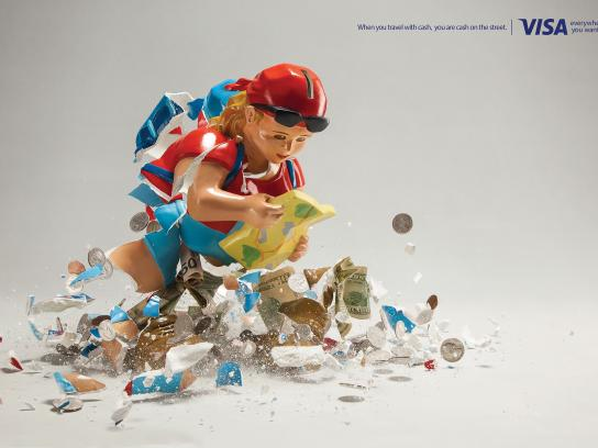 Visa Print Ad -  Piggy bank, 1