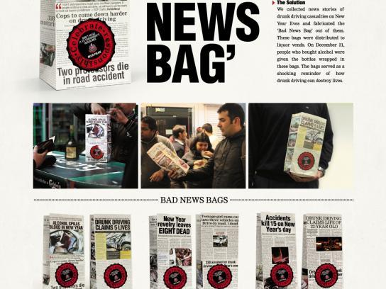 Delhi Police Direct Ad -  Bad news bag