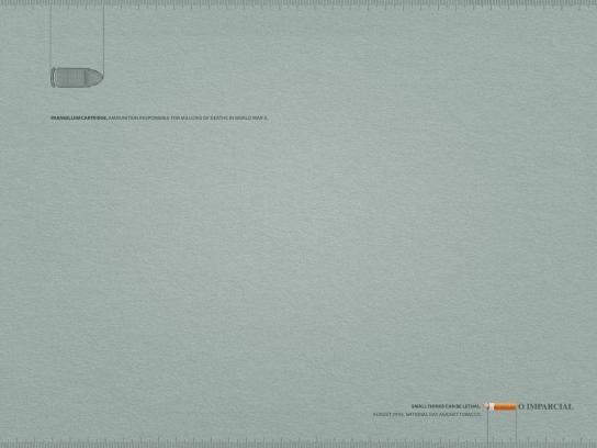 O Imparcial Print Ad -  Parabellum cartridge