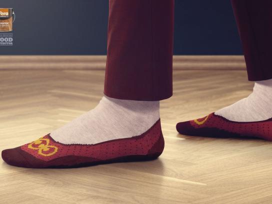 Pera Boya Print Ad -  Ballet shoes
