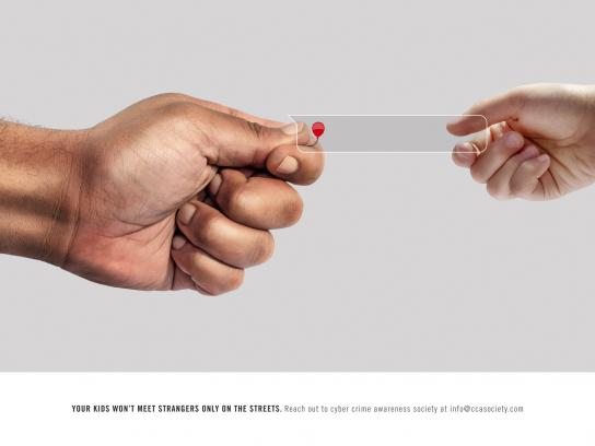 Cyber Crime Awareness Society Print Ad - Online Predators, Balloon
