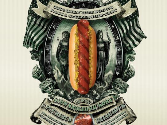 Ball Park Print Ad -  Hickory