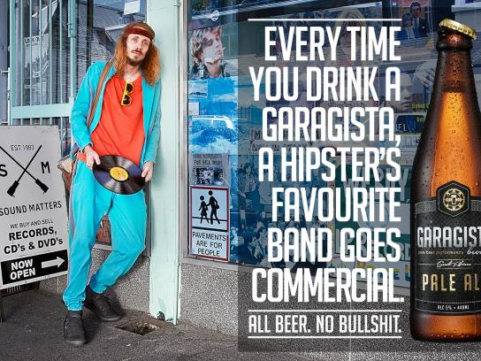 Garagista Print Ad -  Band