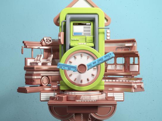 Bankia Print Ad - Clock