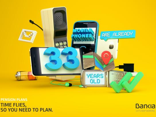 Bankia Print Ad - Mobile phones