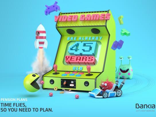 Bankia Print Ad - Videogames
