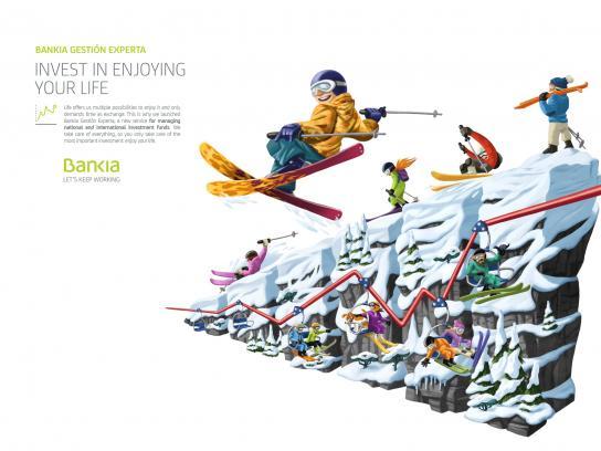 Bankia Print Ad - Baqueira