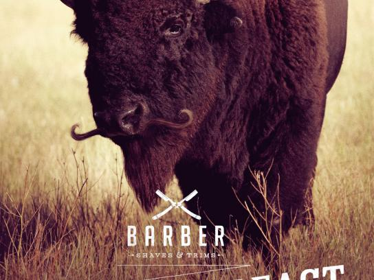 Barber Print Ad -  Tame the beast, Bison