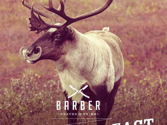 Barber Print Ad -  Tame the beast, Reindeer