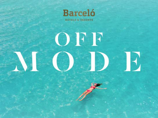 Barceló Hotels & Resorts Print Ad - Set Your Off Mode, 2