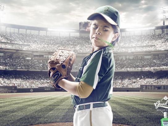 Listerine Print Ad -  Baseball