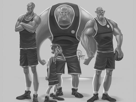 Nissan Print Ad -  Basketball
