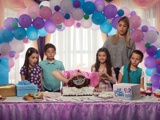 Baskin Robbins Print Ad - Ice Cream Cakes - Pink