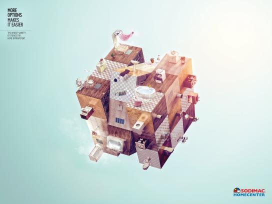 Sodimac Print Ad - Bath