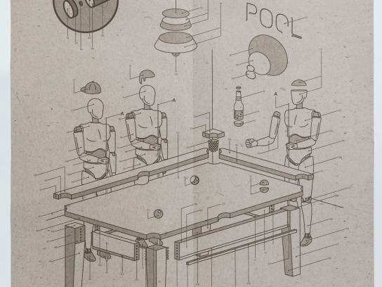 Bauker Print Ad - Pool table