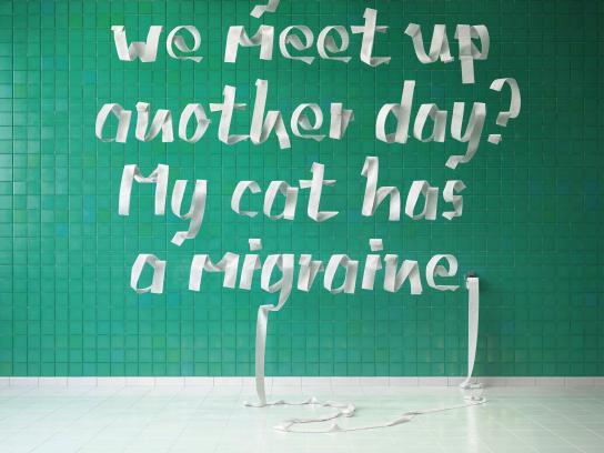 Bayer Print Ad - Sick Cat