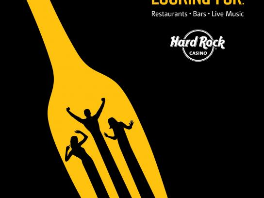 Hard Rock Casino Print Ad -  Fork