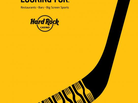 Hard Rock Casino Print Ad -  Hockey