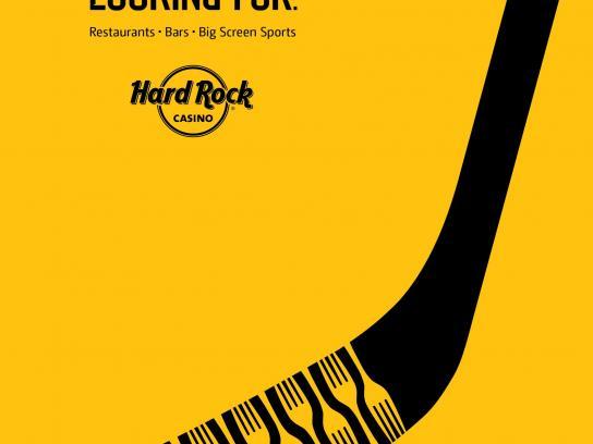 Hard Rock Casino Print Ad -  Hockey