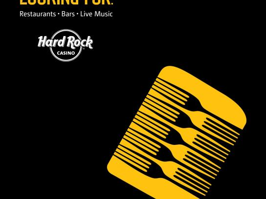 Hard Rock Casino Print Ad -  Microphone