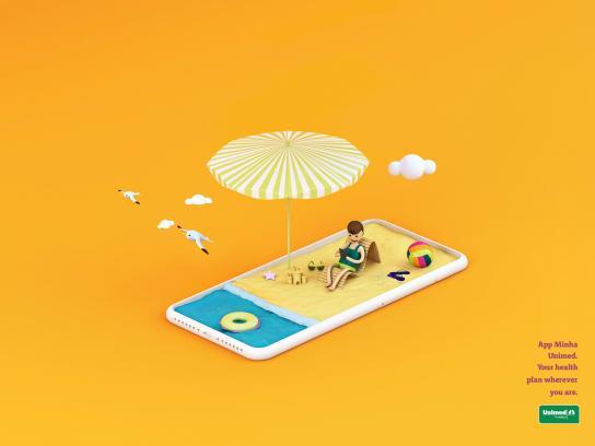 Unimed Fortaleza Print Ad - Beach