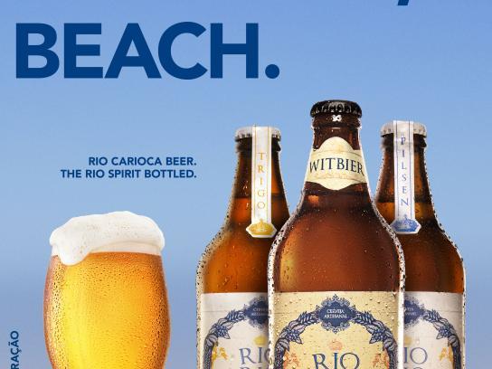 Rio Carioca Beer Print Ad - Beach