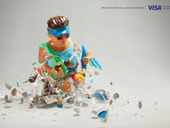 Visa Print Ad -  Piggy bank, 2