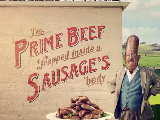 Beak & Sons Print Ad -  Not your common sausage