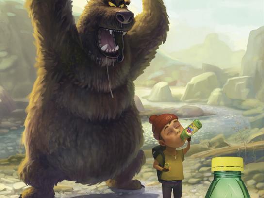 Lipton Print Ad -  Bear