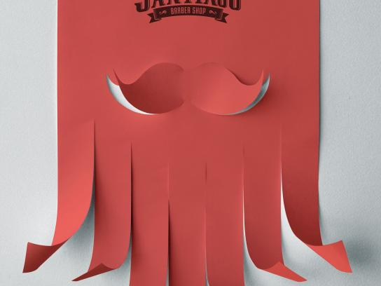 Santiago Barber Shop Outdoor Ad - Beard Poster, 1