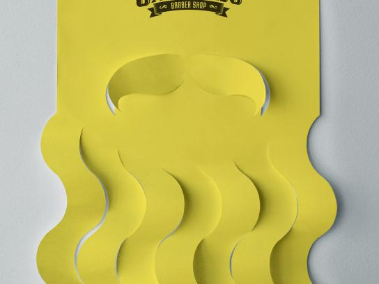 Santiago Barber Shop Outdoor Ad - Beard Poster, 3