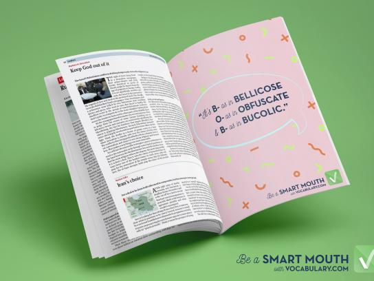 Vocabulary.com Print Ad - Be a Smart Mouth