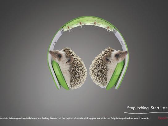 Beats by Dre Print Ad - Hedgehog