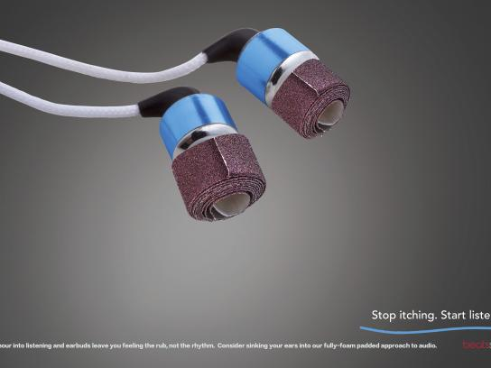 Beats by Dre Print Ad - Sandpaper