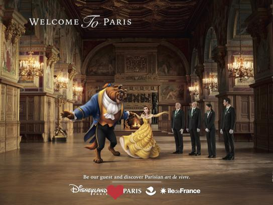Disneyland Paris Print Ad - Beauty and the Beast