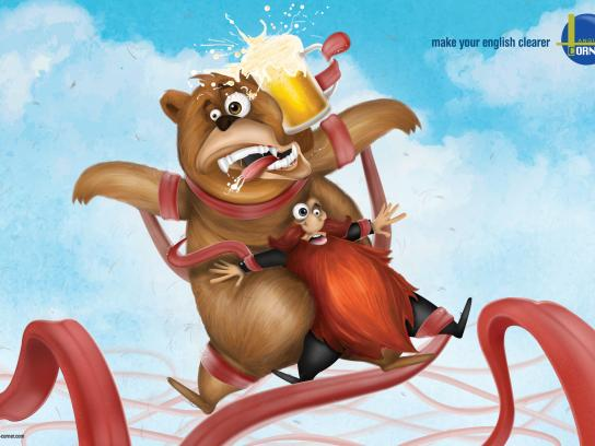 Language Corner Print Ad -  Beer-Beard-Bear