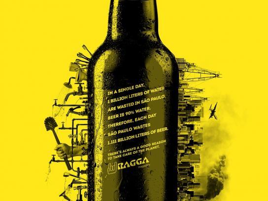 Ragga Magazine Print Ad -  Beer