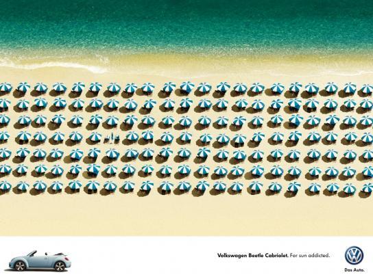 Volkswagen Print Ad -  Umbrellas