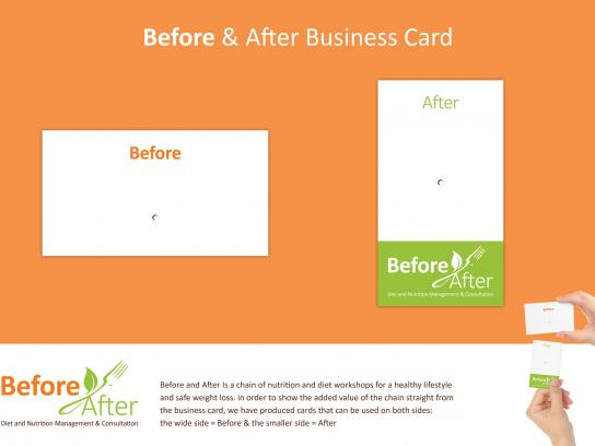 Before & After Direct Ad -  Business card