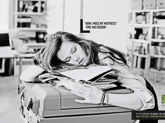 Stresser Colchões Print Ad - Begun